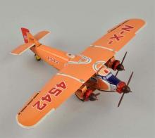 Japanese Tin Litho Friction Ford Trimotor Airplane