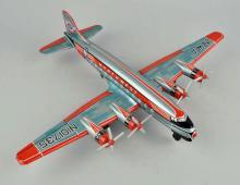Japanese Tin Litho Friction Northwest Airplane Toy