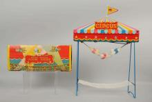 Japanese Battery Op Tin Litho Flying Circus Toy.