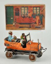 Marx Tin Litho Wind Up Ames & Andy Fresh Air Taxi.
