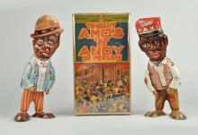 Marx Tin Litho Wind - Up Amos N' Andy Walking Toys