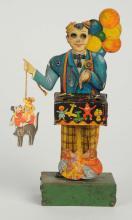 German Tin Litho Wind-Up Balloon Man Toy.