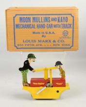 Marx Tin Litho Moon Mullins & Kayo Hand Car Toy.