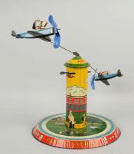 Marx Tin Litho Wind-Up Popeye Flyer Toy.