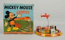 Marx Tin Litho Mickey Express Toy.