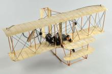 Contemporary Tin Litho Biplane Airplane Model.