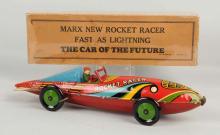 Marx Tin Litho Wind-Up Rocket Racecar.