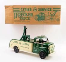 Marx Pressed Steel Cities Service Wrecker Truck.