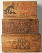 Lot of 3: Advertising Wooden Crates.