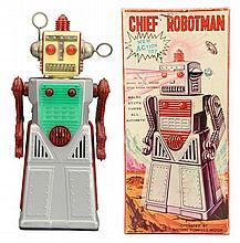 Japanese Tin Litho Chief Robotman Robot