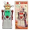 Japanese Tin Litho Chief Robotman Robot
