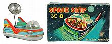 Tin Litho Scouting X-8 Spaceship.