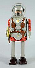 Japanese Tin Litho Windup Space Commando Robot.