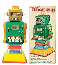 Tin Litho & Painted. Answer Game Machine