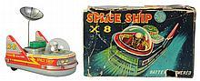 Tin Litho Spaceship Scouting X-8.