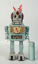 Tin Litho & Painted Rocket Man.