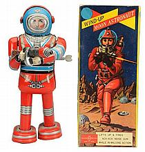 Tin Litho WInd-up Moon Astronaut.