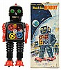 Tin Litho & Painted Blink-A-Gear Robot.
