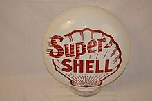 Hard to Find Super-Shell Oil Milkglass.