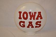 Iowa Gas OPE Milkglass Globe Body.