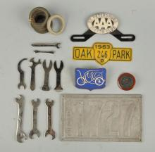 Large Grouping Of Automobilia Pieces.