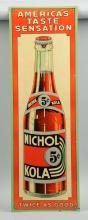 Nichol Kola Tin Litho Advertising Sign.