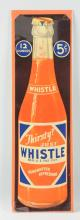 Whistle Orange Soda Cardboard Advertising Sign.