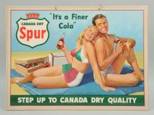 1950's Easel-Back Canada Dry Spur Advertising Sign