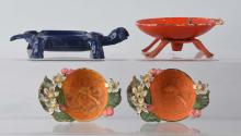 Cast Iron Soap Dishes & Orange Nut Dishes.
