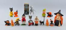 Lot Of 15: Small Halloween Figures.