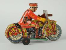 Marx Wind-up Policeman on Motorcycle.