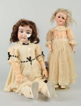 Lot Of 2: Bisque Dolls With Broken Heads.