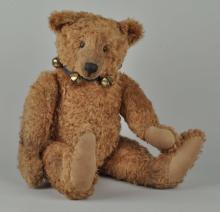 Large Steiff Bear With Bell Collar.