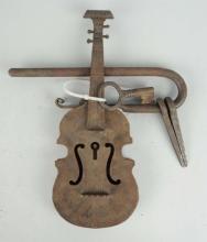 Large Violin Shaped Bar Type Padlock.
