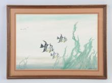 Watercolor Of Fish By Hunter Wood.
