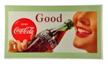 Beautiful 1957 Coca - Cola Cardboard Poster.