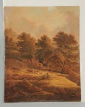 19th Century Landscape with Figures.
