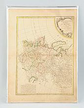 Period 18-19th Century Map of Russia.