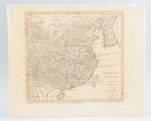 18th Century British Map Of China.