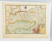 Saxton's Map of Kent.