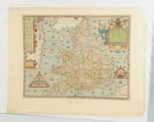 Saxton's Map of England.