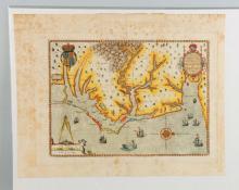 Theodore Debry, 16th Century map of Virginia.