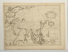 18th Century British Hand Colored Map of Asia.