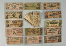 Lot Of 20: Confederate Currency Notes.