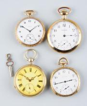 Lot Of 4: Open Face Antique Pocket Watches.