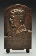 Bronze Plaque of President Theodore Roosevelt