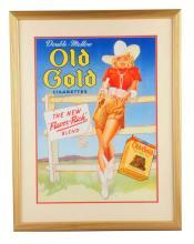 1940's Old Gold Cigarettes Cardboard Poster.