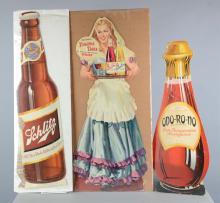 Lot Of 3: Die-Cut Cardboard Advertisements