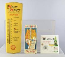 Lot of 7: Advertising Thermometer Signs