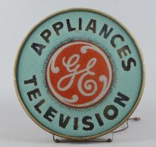 General Electric Round Lighted Advertising Sign
